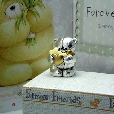 Cornici in argento: Orsetto - 4EVER FRIENDS - Cuori Dorati h.mm.60